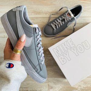 Nwt Nike Id Blazer Low Custom Leather